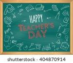 happy teacher's day. school... | Shutterstock .eps vector #404870914