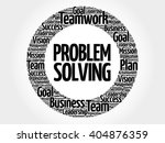 problem solving circle word... | Shutterstock .eps vector #404876359