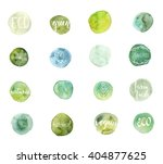 set of hand drawn watercolor... | Shutterstock .eps vector #404877625