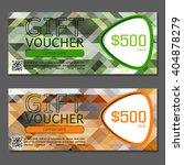 gift voucher. vector ... | Shutterstock .eps vector #404878279