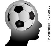a football soccer fan has a... | Shutterstock .eps vector #40488580