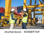 engineer control container... | Shutterstock . vector #404889769