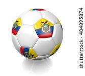 3d rendering of a football... | Shutterstock . vector #404895874