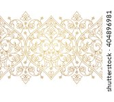 vector line art seamless border ... | Shutterstock .eps vector #404896981