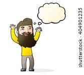 cartoon happy bearded man... | Shutterstock .eps vector #404901235