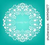 floral pattern round frame.... | Shutterstock .eps vector #404904877