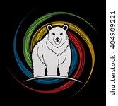 bear standing designed on spin...   Shutterstock .eps vector #404909221