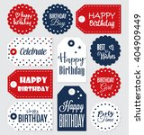 set of birthday gift tags... | Shutterstock .eps vector #404909449