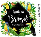 welcome to brazil  vector... | Shutterstock .eps vector #404910421