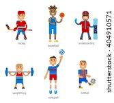 set sport man winter sport and... | Shutterstock .eps vector #404910571