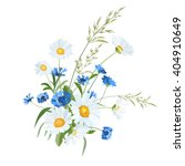 bouquet of summer wildflowers....   Shutterstock .eps vector #404910649