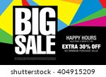 big sale banner template design | Shutterstock .eps vector #404915209