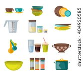 kitchenware and utensil flat... | Shutterstock .eps vector #404920585