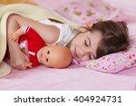 little girl sleeping | Shutterstock . vector #404924731