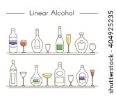 alcohol drinks icons in thin... | Shutterstock .eps vector #404925235