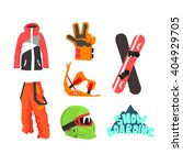 snowboarding gear collection of ... | Shutterstock .eps vector #404929705