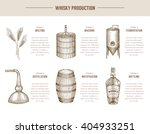 vector hand drawn whisky... | Shutterstock .eps vector #404933251
