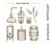 vector hand drawn whisky...
