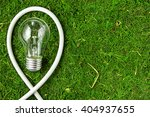 concept ecology. light bulb on... | Shutterstock . vector #404937655