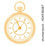 golden pocket watch icon... | Shutterstock .eps vector #404938387