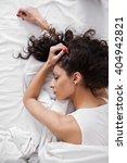 beautiful brunette long hair...   Shutterstock . vector #404942821