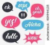 set of flat style speech... | Shutterstock .eps vector #404944135