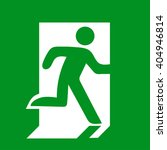 exit sign to show people the... | Shutterstock .eps vector #404946814