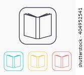 open book color icon set  | Shutterstock .eps vector #404952541