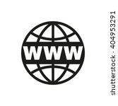 the www icon. seo and browser ... | Shutterstock .eps vector #404953291
