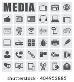 media icons set | Shutterstock .eps vector #404953885