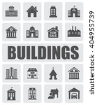 buildings icons set | Shutterstock .eps vector #404955739