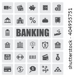 banking icons set | Shutterstock .eps vector #404955751
