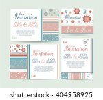 wedding invitation card suite... | Shutterstock .eps vector #404958925