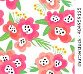 seamless pattern with flowers... | Shutterstock .eps vector #404959135