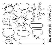 set of  speech bubbles. vector... | Shutterstock .eps vector #404962774