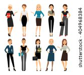women in office clothes.... | Shutterstock .eps vector #404968384