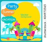 bouncy castle summertime... | Shutterstock .eps vector #404973565