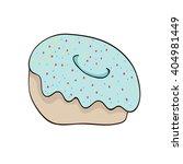 vector   isolated  donut  ... | Shutterstock .eps vector #404981449