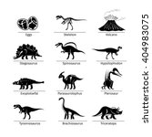 Постер, плакат: Dinosaur icons vector Dinosaur