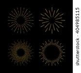 retro gold sun burst shapes.... | Shutterstock .eps vector #404985115