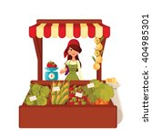 sale of farm vegetables in the... | Shutterstock .eps vector #404985301