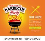 barbecue party design template  ... | Shutterstock .eps vector #404993929