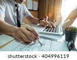 business hand working and smart ... | Shutterstock . vector #404996119