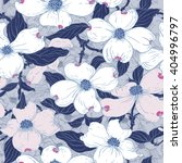 dogwood seamless pattern. hand...   Shutterstock .eps vector #404996797