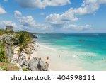 beautiful beach on the... | Shutterstock . vector #404998111