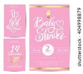 vector watercolor pink sticker... | Shutterstock .eps vector #404998879