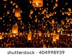 floating lantern at chiang mai... | Shutterstock . vector #404998939