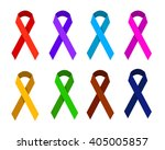 ribbon in different colors... | Shutterstock .eps vector #405005857