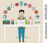 blogging concept | Shutterstock .eps vector #405014815