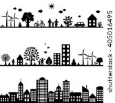 black cities landscape  vector... | Shutterstock .eps vector #405016495